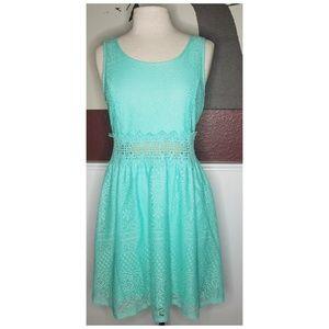 Lace midi summer dress